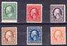 US Scott 374-379 old 1-6c Washington/Franklin regular issue M/H/OG/VF CV $135