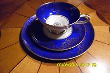 Alka Bavaria Tea Cup, Saucer & Plate.  #875 Cobalt Blue, Gold & Antique White!!