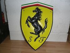 Cast Iron Ferrari Plaque Sign wall