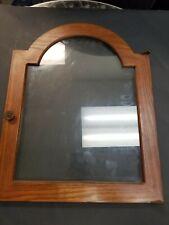 Cherry Wood Look  Glass Clock Door Frame W/handle