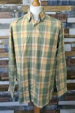 Indian Terrain Mens Green/Yellow Check Cotton Long Sleeved Casual Shirt Size L