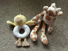 M&S Marks & Spencer Giraffa GAMBALUNGA giocattolo morbido Duck Baby Hand Held Sonaglio Carino