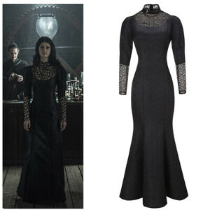 Yennefer Cosplay Costume Women Outfits Halloween Black Party Mermaid SkirtSexy