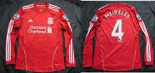Raul Meireles #4 The Reds FC LIVERPOOL LONG SLEEVE shirt ADIDAS 2010-2011 SIZE S