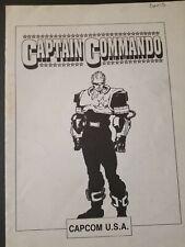 Vintage Original Captain Commando Capcom Arcade Operations Manual Complete