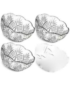 GODINGER Dublin Collection set of 3 crystal Dessert bowls
