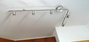 New IKEA Track light 5 spotlights LED or Halogen bulbs Flexible Husinge (Leding)