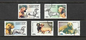 Cambodia Stamps 2000 Dogs 5 value set, used, CTO