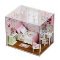 1/24 Dollhouse Miniature Kit with Furniture Wooden Doll House Building Craft
