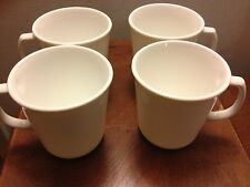 Corelle WINTER FROST WHITE plain Suprema coffee cups mugs gently used lot of 4