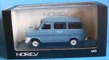 MINI BUS FORD TRANSIT 1969 BLEU CIEL NOREV 270526 1/43 SKY BLU VITRE