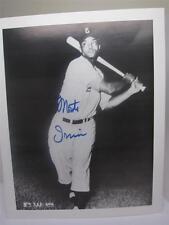 Negro League Baseball MLB Autographed Photo Monte Irvin Hall of Fame NY Giants