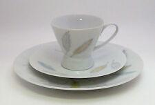 """Rosenthal-café couvert. porcelaine forme 2000"""" couverts feuilles """"dével. raymond loewy"""