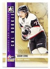 50ct Adam Erne 2011-12 ITG Heroes & Prospects Hockey Update Rookie RC Lot #246