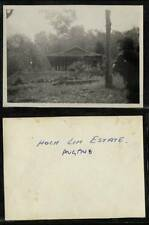 (Gj292-100) Malaysia, Johor, Malaya, Hock Lim Estate Camp Hut Photo 1948 EX