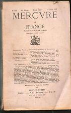 Mercure de France revue n°689, romantisme, Mystère, Rimbaud, Glozel