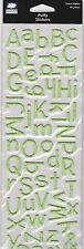 SCRAPBOOK  ALPHA STICKERS  PUFFY  /  GREEN   BY CLOUD 9 DESIGN