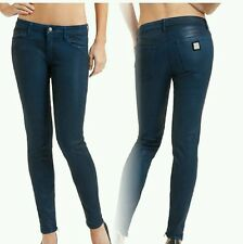 NWT GUESS BY MARCIANO BLUE The Skinny Leatherette Jeans No. 68 SIZE 23