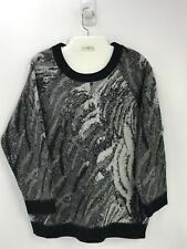 Moncler X-Large Black Gray Sweater Ski Super Warm  Crewneck
