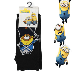 Mens Novelty Despicable Me Minions Funny Cartoon Socks Pack UK Size 6-12
