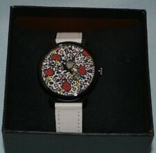 COACH 14502729 WOMEN'S DELANCEY WHITE  LEATHER  STRAP FLORAL DIAL WATCH