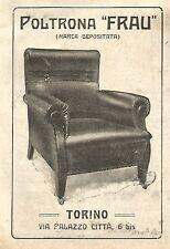 Y2637 Poltrona FRAU - Torino - Pubblicità del 1922 - Old advertising