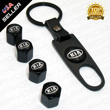 Universal Black For K Car Wheel Tire Valves Dust Stems Air Caps Keychain Emblem