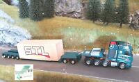 +++ Herpa 310123 Mercedes Benz Actros SLT Tieflader Schwertransport Ladung +++