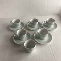 Paul McCobb Cups And Saucers 6 Cups With 5 Saucers