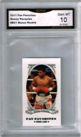 2011 Manny Pacquiao Fan Favorites Mini  Boxing Rookie Gem Mint 10