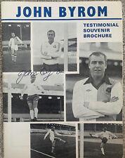 More details for john byrom testimonial souvenir brochure signed