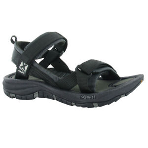 NAOT Womens Harbor Source by Naot Black Sandals (38506-X10)