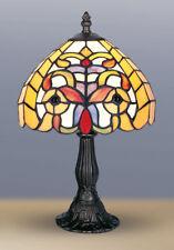 STYLE TIFFANY UNIQUES Verre Teinté LAMPE BUREAU TABLE - 21cm Large -