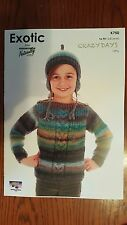 Naturally Knitting Pattern #K750 Sweater & Hat to Knit in Crazy Days Yarn 12 Ply