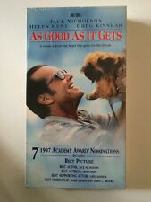 NEW VHS As Good As It Gets: Jack Nicholson Helen Hunt Greg Kinnear Cuba Gooding