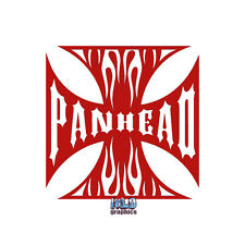 PANHEAD vinyl Sticker for Harley Davidson Fans Flathead Truck Car Windows Glass