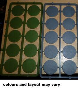 20 plastic Round bases 25mm  new