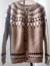 Icelandic Cardigan Jumper Vintage Sweater Norwegian Christmas ski nordic button
