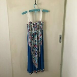 Multicoloured Floral Sundress Approx Size M Womens