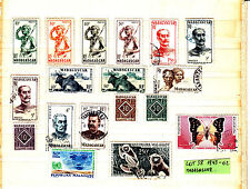 MADAGASCAR 1943-42   lot  38 + 3 feuilles Rep. Malagasy & Poste Aerienne