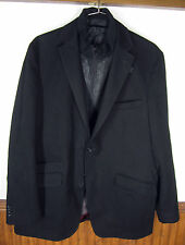 vtg U&I Hechter Studios Blazer Sport Coat leather jacket bib black sz 46 L T