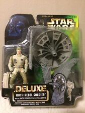 STAR WARS-NIP- Deluxe Hoth Rebel Soldier & Anti VehicLe Laser Cannon Figure. NOC