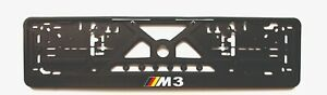 2x European License Number Plate Frame Holder Surround for BMW fans M3 edition