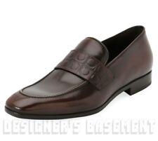 SALVATORE FERRAGAMO burnished 12E COLUMBUS GANCINI Loafers shoes NIB Authen $595