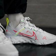 Nike reaccionar elemento 55 Blanco Rojo Azul para Hombre Zapatillas Zapato Entrenador UK Size 6-12
