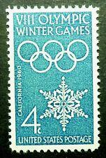 1146 MNH 1960 4c Winter Olympic Games rings California snowflake athletic skill