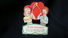 Vintage Wish Bone Valentine Card c. 1940s