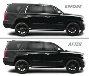 Chrome Delete Blackout Overlay for 2015-20 Chevy Tahoe Window Trim