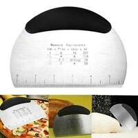 Stainless Steel Pastry Dough Cutter Scraper Scale Kitchen Tool Bread Making H8M6