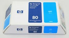 HP #80 C4846A Cyan DesignJet Ink Cart 350ml OEM NEW GENUINE  BLOWOUT PRICED